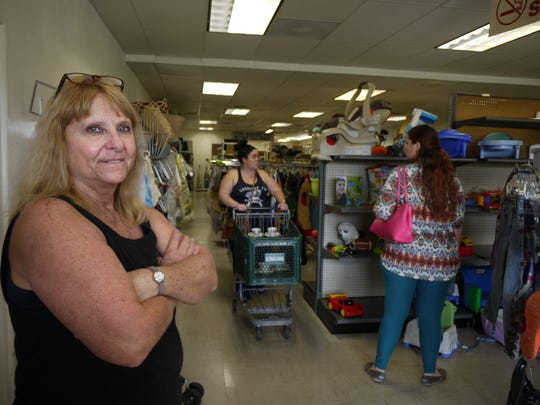 Charlotte Titensor, manager of the Kiwanis Club Thrift Store South in Cape Coral, oversees a crew of volunteers who carefully organize the store's merchandise to make shopping easy for customers.