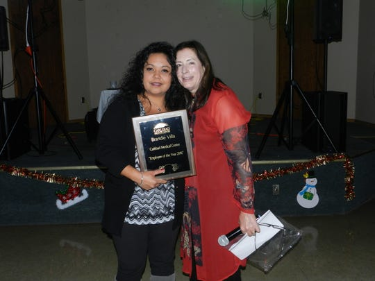 Brandie Villa was named the 2016 Carlsbad Medical Center Employee of the year.