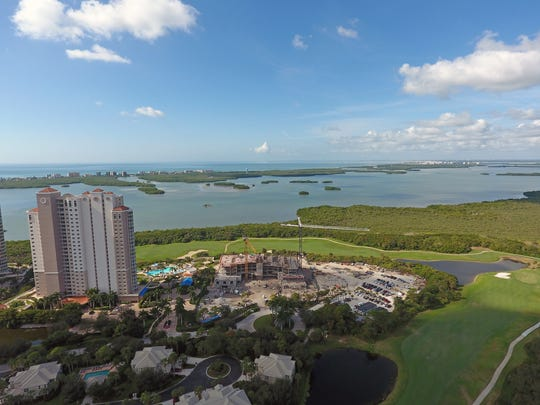 Seaglass, a 26-story, 120-unit tower of luxury condos, rises in the upscale Bonita Bay community of Bonita Springs in 2016. Can the strong demand for water view condo living be sustained in Fort Myers to the north? Market Watch experts will answer this and more at Harborside Event Center Wednesday February 22.