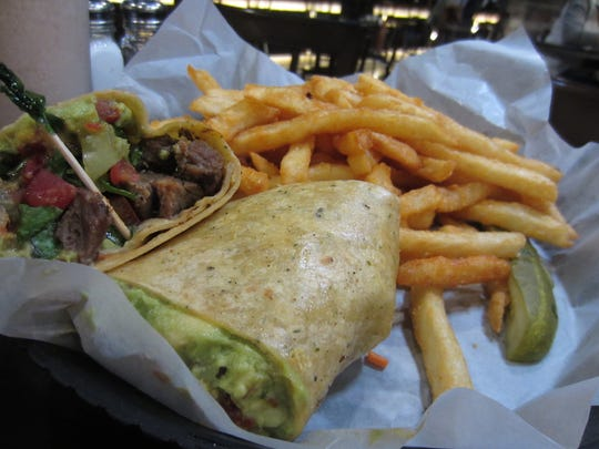 Beef avocado wrap at Flix Brewhouse in Des Moines