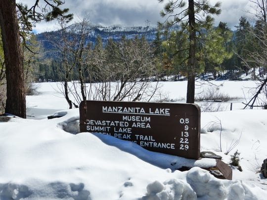 There's plenty of snow to be found at Lassen Volcanic National Park.