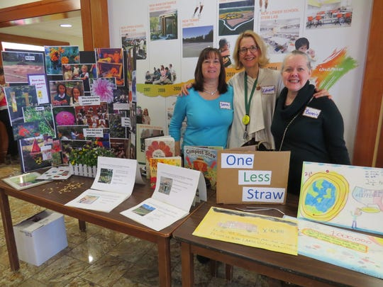 Wardlaw-Hartridge Green Team members Donna Peddie, Katherine Heiss and Bonnie Farrell during Clean Water Action's 31st annual conference.