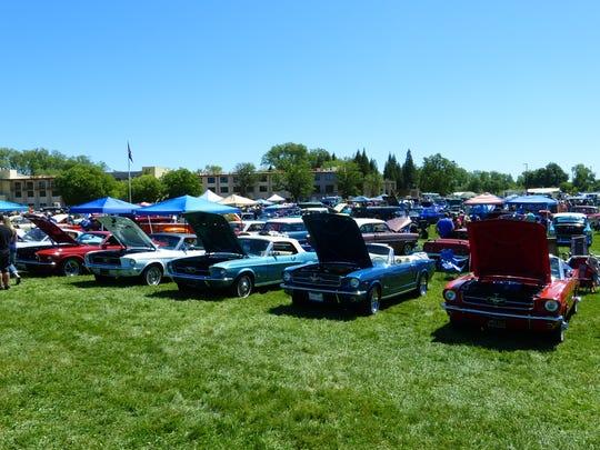 A display of cars at Kool April Nites on Saturday at the Redding Civic Auditorium.