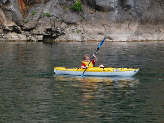 Campers will take an introductory paddling lesson at Meads Quarry before launching their canoe from the new dock at Ijams Nature Center on the Tennessee River.