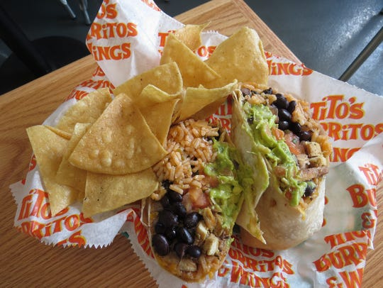 The Bird is the Word burrito at Tito's Burritos in