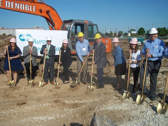 Pictured at the June 2 groundbreaking of the new Aurora