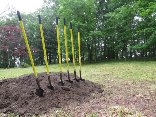 A groundbreaking for the Kleitman Woods Park project