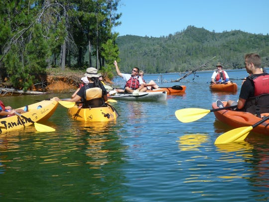 Kayak tours at Whiskeytown National Recreation Area