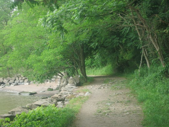 A typical section of the Shore Trail between the Englewood