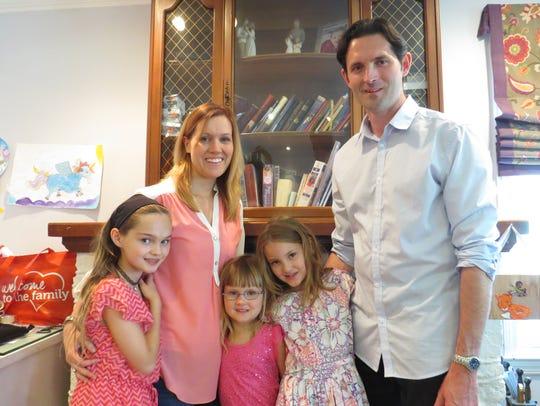 Brian and Pam Wheelock with their children Jillian,