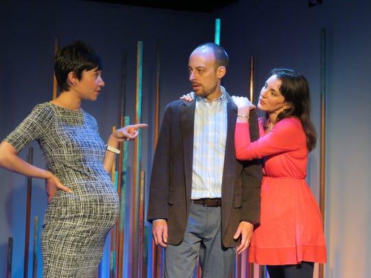 "Lori Vega, Dan McVey and Susan Maris in a scene from Ken Weitzman's ""Halftime with Don."""