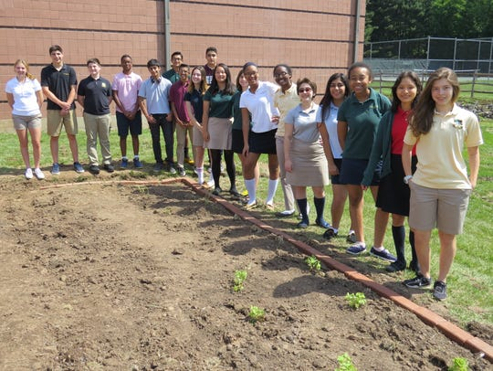 Students have designed the entire garden themselves,