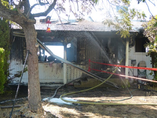 There was not much left of a Sierra Drive house after