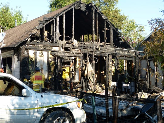 A Magnolia Avenue home in Redding was gutted by a Thursday