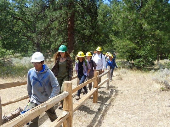 In addition to restoring wild trout habitat, the students