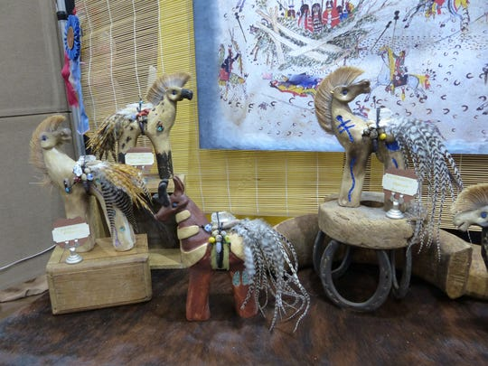 Spirit horses were one of the most popular creations of artist Susan Harvey's Medicine Horse Sculpture booth.