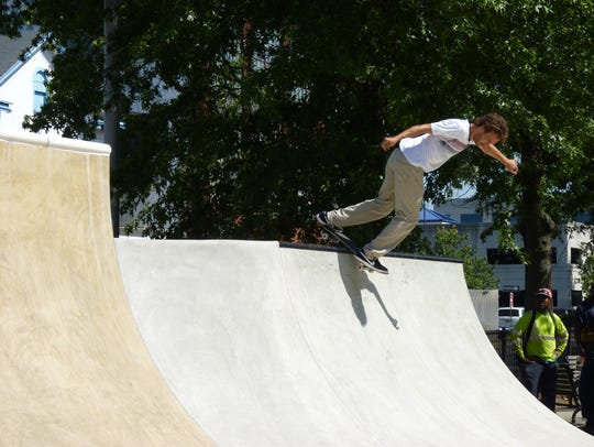 Professional skateboarder Ron Deily, who is from New