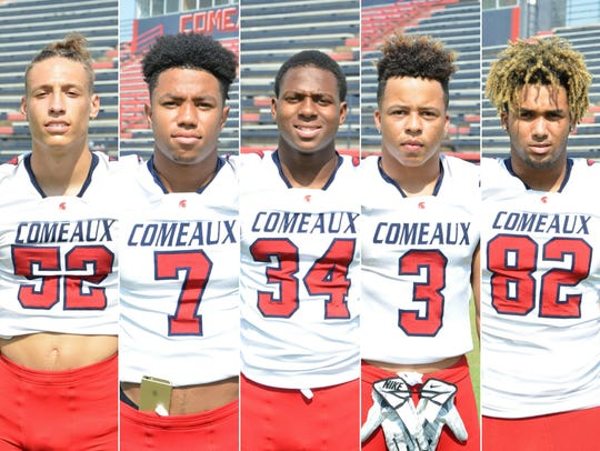 Comeaux High players to watch include (from left) Chris