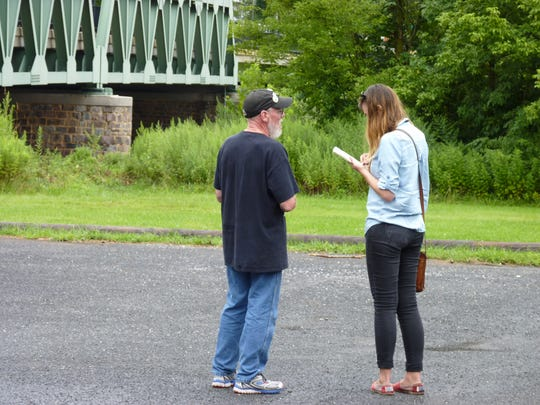 Jim Girvan, of Branchburg, speaking to a reporter before