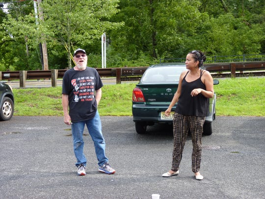 Jim Girvan, of Branchburg, and Analilia Mejia, director