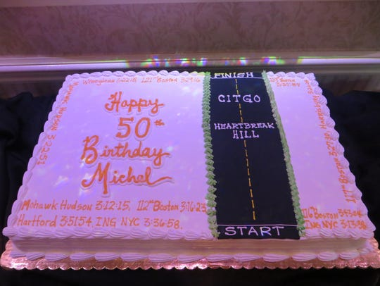 Local runner Michel Joseph was given a 50th birthday