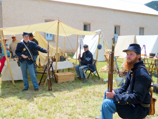 A military encampment at Old Lincoln Days.