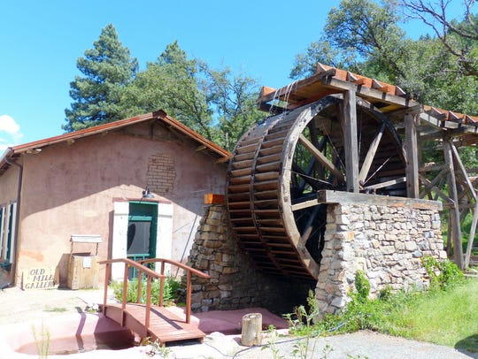 The water wheel that used to turn the grist mill at