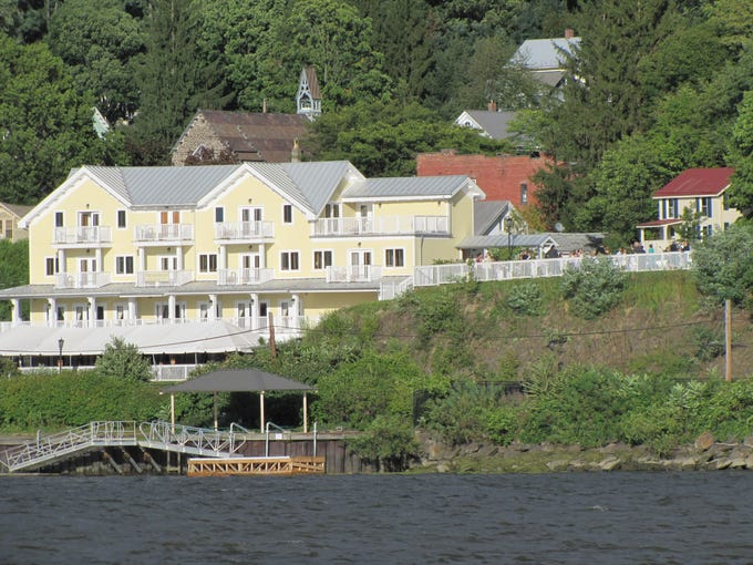 The Rhinecliff Hotel on the Hudson River.