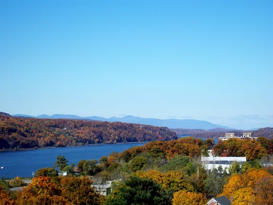 A view of the Hudson Valley from the Walkway Over the