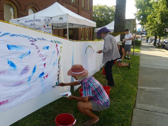 The Homeless Art Project kicked off Thursday with a