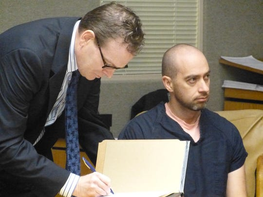 Redding doctor Benjamin Shettell, right, is charged with 81 criminal counts. Also shown is defense attorney Keith Cope.