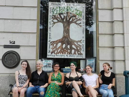 Flemington DIY is a nonprofit community arts space in downtown Flemington. Pictured are artist-participants from a Youth Arts Show (from left): Laura Adams, Kathleen Coll, Bella Hanley, Lindsey Honchar, Sarah Wedeking and Niya Maniez.
