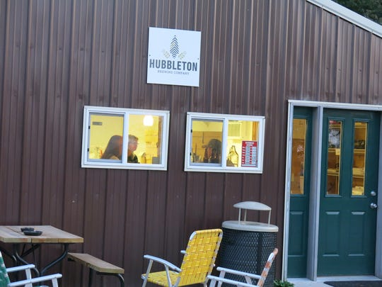 Hubbleton Brewing Co. near Waterloo remains a lively place as evening closes in.