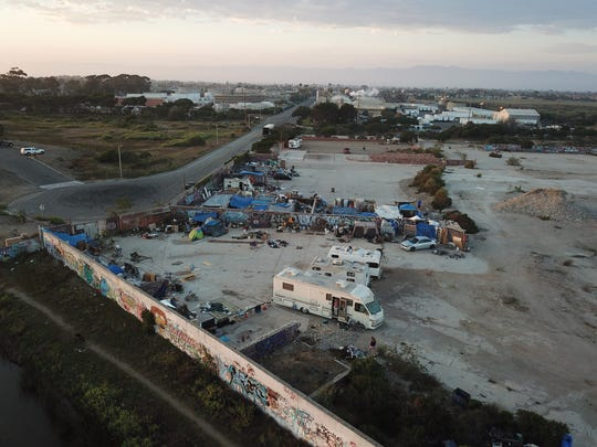 According to the city officials, some 50 camps and 50 vehicles have congregated at the Halaco site.