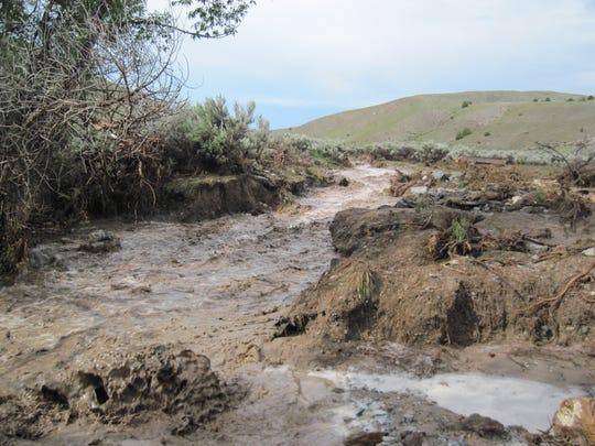 Bannack State Park flood July 2013