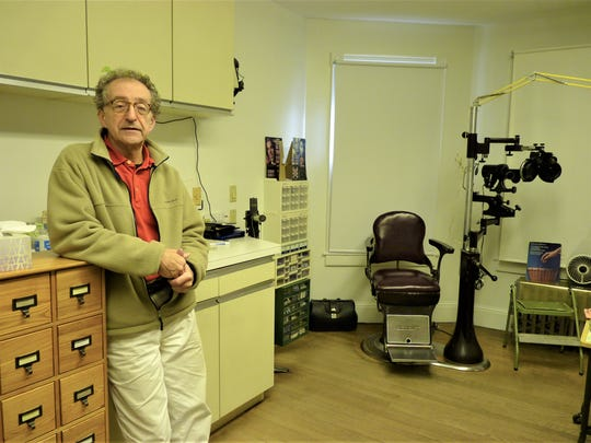 Dr. David Weininger inside of his Easton Avenue optometry