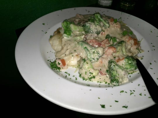 Italian Grill's seafood special with snapper was prepared