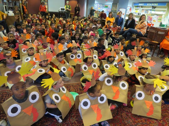 Lower School students at The Wardlaw+Hartridge School in Edison, led by an eager and energetic group of PreK and JK turkeys, participated in a Thanksgiving assembly by sharing delightful songs and stories.