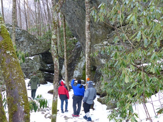 Grandfather Mountain State Park will host a First Day Hike Jan. 1 on the new Profile Trail. The high-elevation park often has snow and ice on the trails at this time of year, as seen in this file photo.