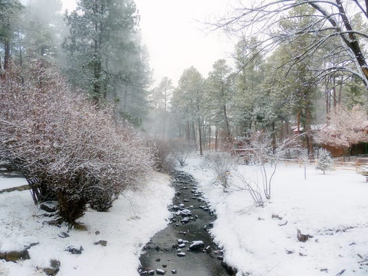 A wintery picture in Ruidoso