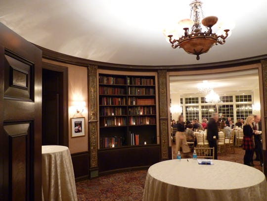 Inside the rotunda library at Trump National Golf Club in Bedminster.