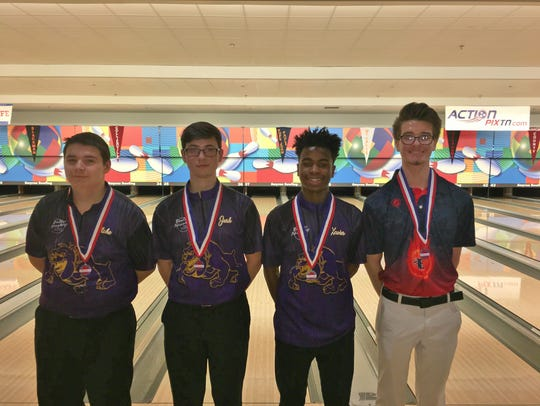 Four Rutherford County bowlers who were in the individual