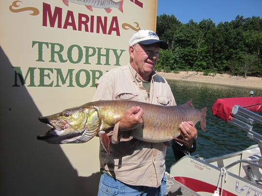 Fellows Lake is popular among muskie anglers. Here,