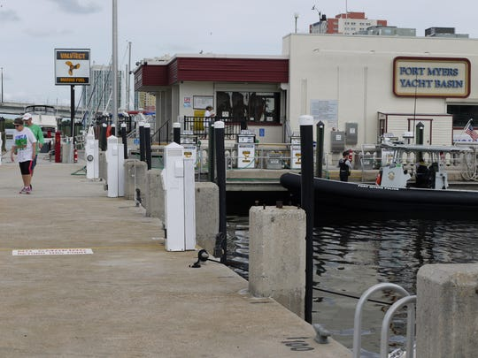 The City of Fort Myers Yacht Basin offers public docking