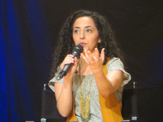 """Sharone Sayegh speaks during a show spotlight on """"The"""