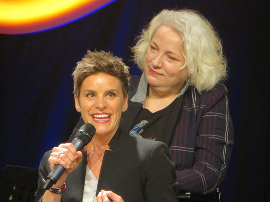 Jenn Colella and Astrid Van Wieren take part in the