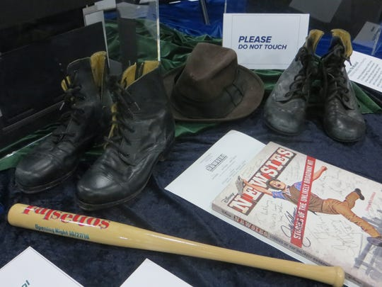 "These pieces of ""Newsies"" and ""Falsettos"" memorabilia were on display at BroadwayCon 2018, but you can find some treasures of your own at Broadway Flea."