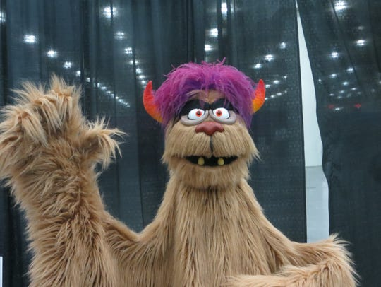 "Trekkie Monster from ""Avenue Q"" on display at BroadwayCon"