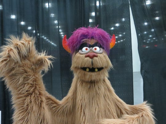 """Trekkie Monster from """"Avenue Q"""" on display at BroadwayCon"""
