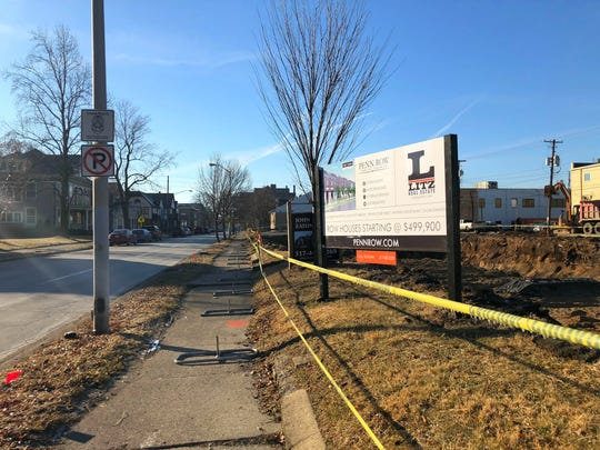 This hole in the ground just north of 18th Street on Pennsylvania Street in the Herron-Morton neighborhood will soon be 13 Parisian-style rowhouses.